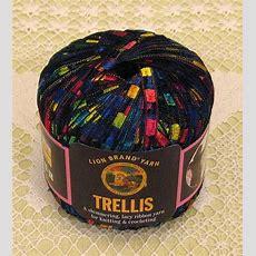 """Lion Brand Trellis """"rainbow"""" Yarn  1 Skein $12"""