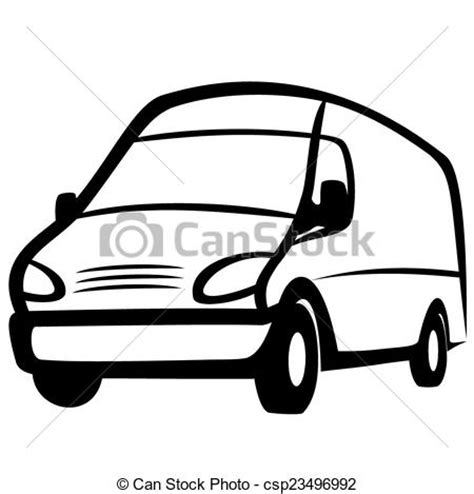 transit template eps vector illustration commercial van on a white background