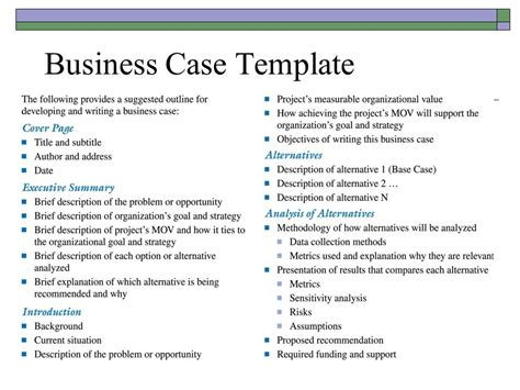 simple business case exles business mentor