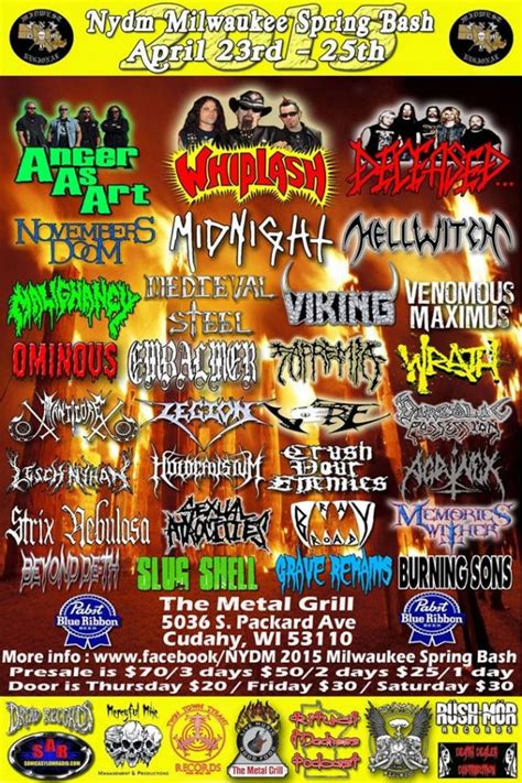 Nydm 2015 Spring Bash  All Metal Festivals