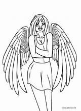 Angel Coloring Pages Dark Printable Cool2bkids sketch template