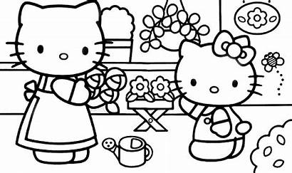 Kitty Hello Coloring Pages Garden Mom Resolution