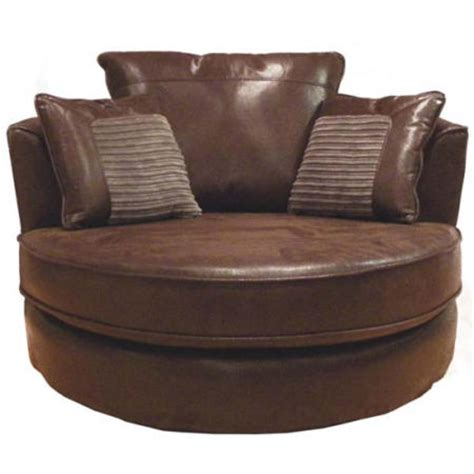 buoyant upholstery lido snuggle chair in brown furniture123