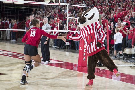 volleyball wisconsin athletics  dodge