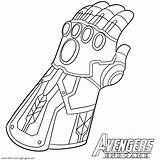 Coloring Thanos Pages Gauntlet Infinity Paper sketch template