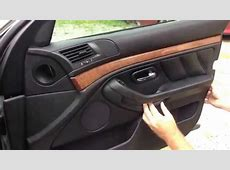DIY BMW door panel removal the easiest way E38 E39 YouTube