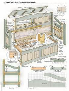 outdoor storage bench plans woodarchivist