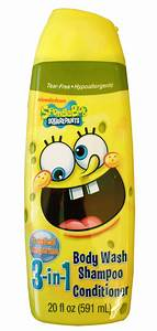 Nickelodeon Spongebob Squarepants Boys 3 In 1 Body Wash
