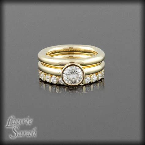 brilliant moissanite  ring wedding set