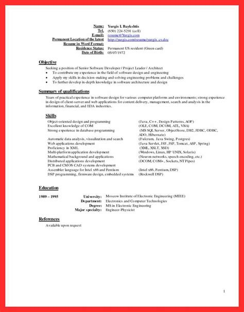 20821 great resume templates resume sle resume format