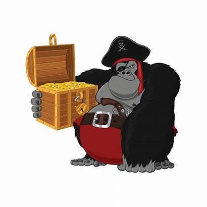 Pirate Gorilla Treasure Stickers Factory