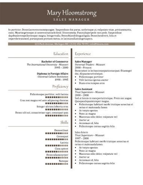 112 best resume templates images on