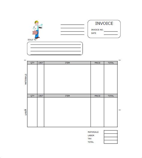 independent contractor invoice template invoice sample