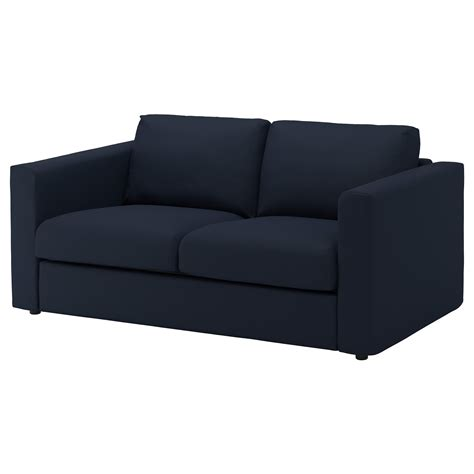 canape 2places vimle 2 seat sofa gräsbo black blue ikea