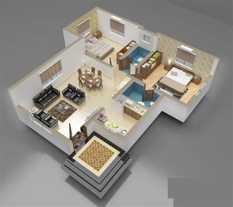 home plans with photos of interior 3d front elevation com 3d interior of house plan