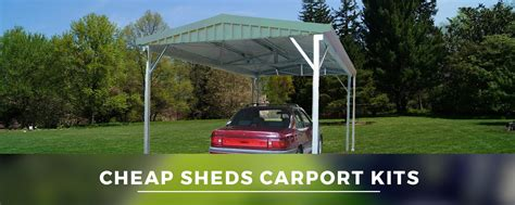 carports kits cheap sheds