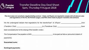 What is the 'deal sheet' in transfers?