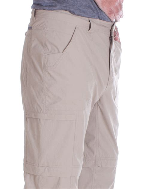 royal robbins heren bug barrier traveller zip   pants khaki insectenwerende afritsbroek