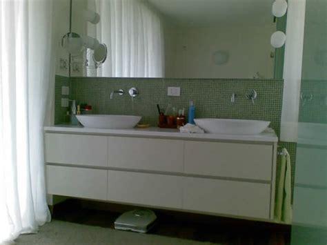 mobile bagno doppio lavello mobili per arredo bagno realizzati in falegnameria su misura
