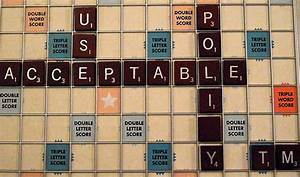 Acceptable Scrabble Words
