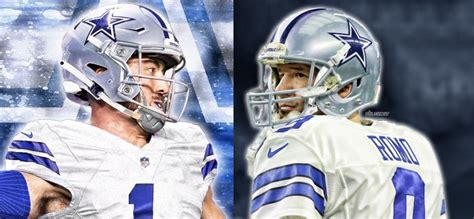 cowboys comparison  rookie qb dinucci  tony romo