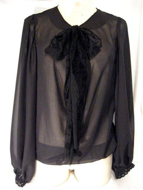 sheer chiffon blouse sheer black chiffon bow blouse sewing projects