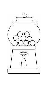 Gumball Machine Template Coloring Cut Printable Printables Gum Bubble Preschool Activities Paste Worksheets Kid Halloween Templates Children Birthday Pattern Hundreds sketch template