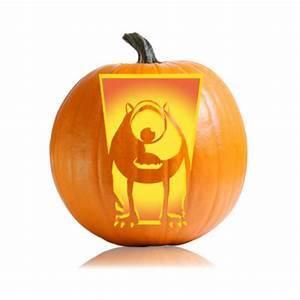 mike wazowski pumpkin template - pumpkin cartoon patterns