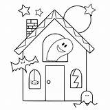Haunted Coloring Pages Halloween Getcoloringpages sketch template