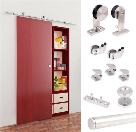 Closet Door Glides by 5 Ft Modern Stainless Steel Interior Sliding Barn Wood