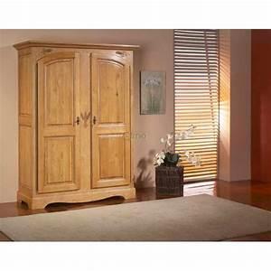 armoire 2 portes chene massif naturel ardeche meubles elmo With porte d entrée alu avec meuble salle de bain chene naturel
