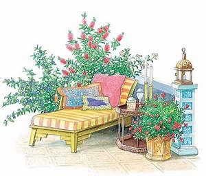 Kuebelpflanzen Fuer Terrasse : terrasse und sitzplatz mediterran gestalten gartengestaltung mediterrane terrasse ~ Orissabook.com Haus und Dekorationen