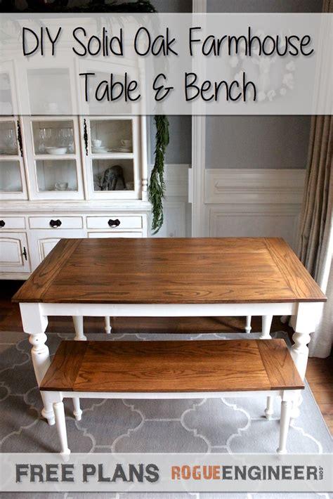 diy solid oak farmhouse bench  easy plans