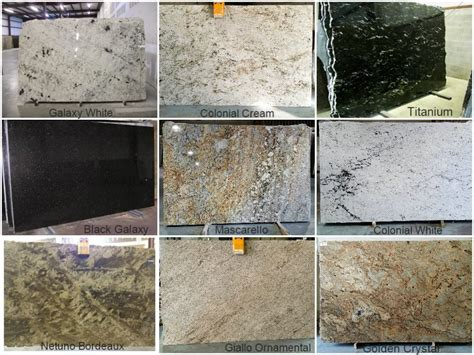 granite comes in many different colors and patterns