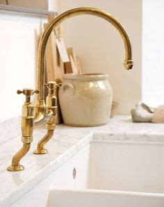 Barber Wilson Unlacquered Brass Faucet by Barber Wilsons 1030 Bridgemaster Kitchen Faucet With Side