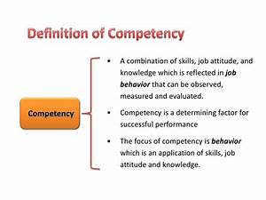 Developing comp... Competency Definition