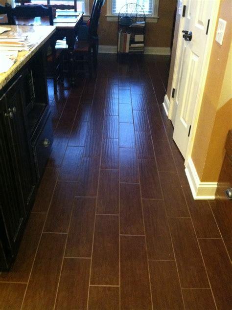 my new kitchen floor interceramic colonial walnut