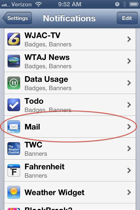 iphone mail notifications ios 6 setting up separate notifications for each email