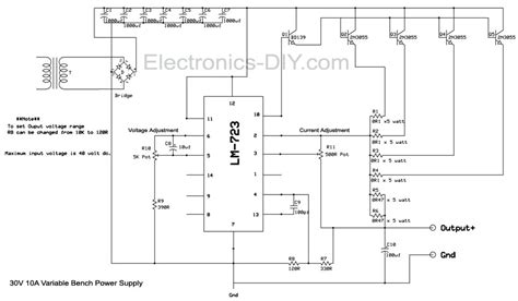 Bench Power Supply With Current Limiter Voltage