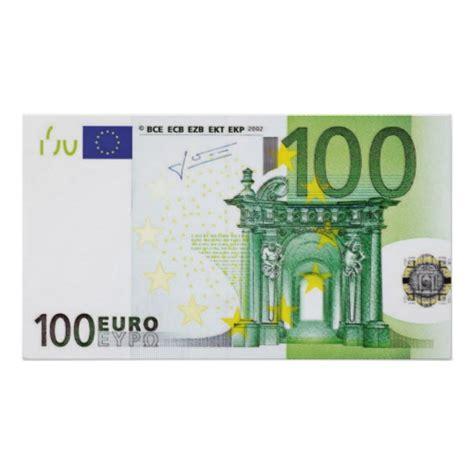 canap 100 euros 100 scheine poster zazzle