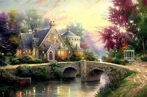 art by thomas kinkade lamplight manor With lamplight gardens