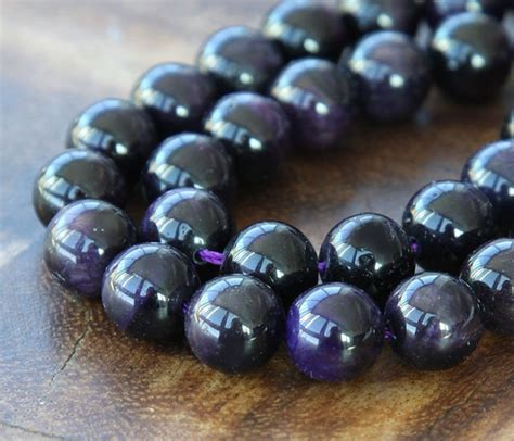 Tiger Eye Beads Dark Purple Round Golden Age
