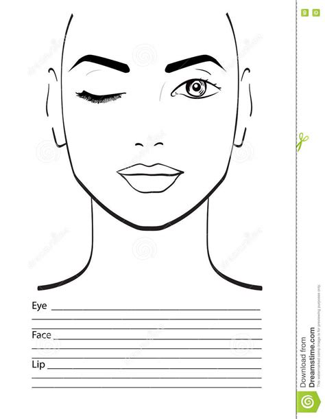 makeup template charts makeup artists mugeek vidalondon