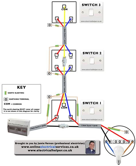 1 3 way light switch wiring diagram circuit and