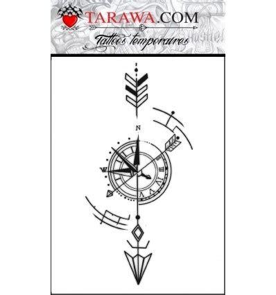 tatouage fleche  boussole tarawa piercing