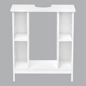 Meuble Dessous De Lavabo : meuble dessous lavabo composeo blanc meuble de salle de bain eminza ~ Melissatoandfro.com Idées de Décoration