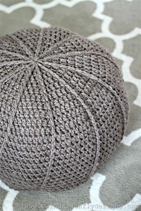 crochet floor pouf pattern free knitting and crocheting impressionnant