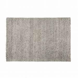 Teppich Wolle Grau : teppich aus wolle und baumwolle grau 140x200cm dry maisons du monde ~ Markanthonyermac.com Haus und Dekorationen