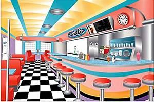 American Diner Wallpaper : 9 39 rockin 50 39 s diner sock hop scene setter backdrop retro party supplies ebay ~ Orissabook.com Haus und Dekorationen