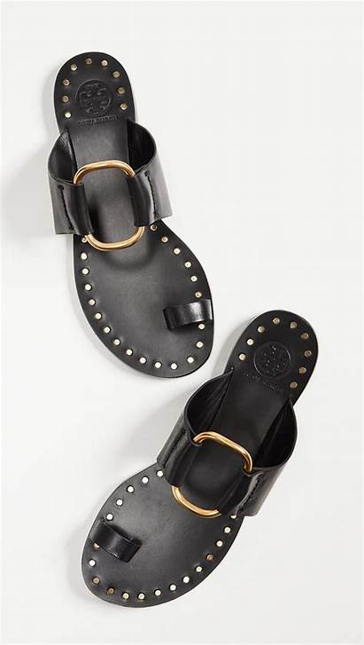 Sandals Ring Toe Tory Burch Brannan Shoes